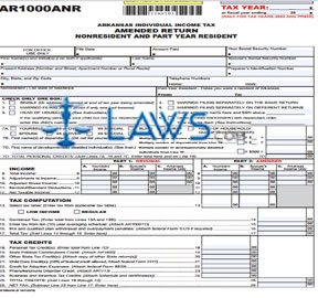Form AR1000ANR Nonresident Individual Income Tax Amended Return