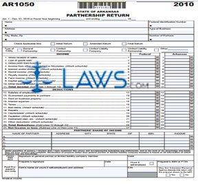Form AR1050 Partnership Income Tax Return