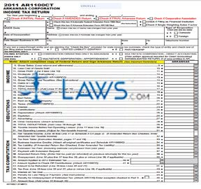 Form AR1100CT Corporation Income Tax Return