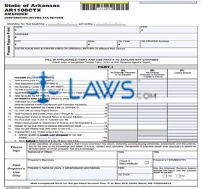 Form AR1100CTX Amended Corporation Income Tax Return