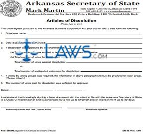 Form DN-10 Articles of Dissolution (new code) (Corporation)