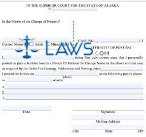 Form CIV-702  Affidavit of Posting