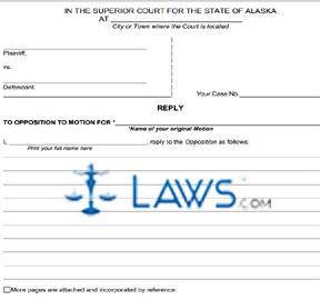 Form SHC-1305 Reply