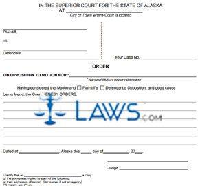 Form SHC-1304 Order
