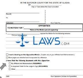 Form SHC-1303 Opposition