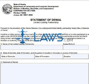 Form 08-504 Statement of Denial