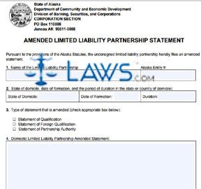 Form 08-503 Amended LLP Statement