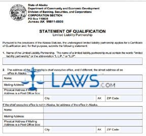 Form 08-500 Statement of Qualification