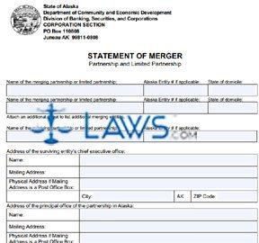 Form 08-505 Statement of Merger