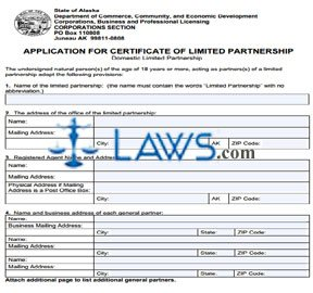 Form 08-420 Application of Certificate of Limited Partnership