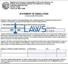 Form 08-508 Statement of Dissolution