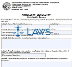 Form 08-466 Articles of Dissolution