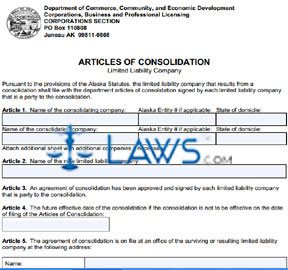 Form 08-473 Articles of Consolidation