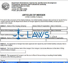 Form 08-472 Articles of Merger