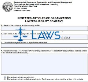 Form 08-471 Restated Articles of Incorporation