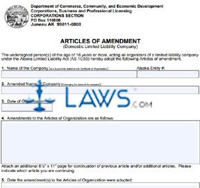 Form 08-446 Articles of Amendment