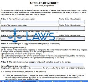 Form 08-452N Articles of Merger