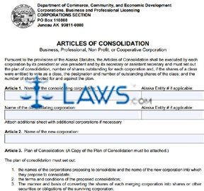 Form 08-454 Articles of Consolidation