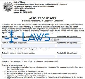 Form 08-452 Articles of Merger
