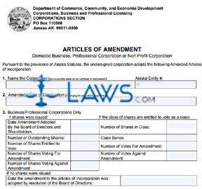 Form 08-440 Articles of Amendment