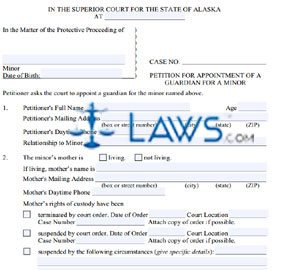 Form PG-610 Petition for Appointment of a Guardian for A Minor