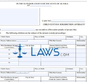 Form DR-150 Child Custody Jurisdiction Affidavit