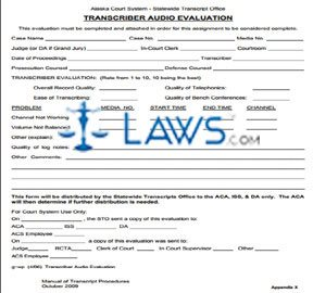 Manual of Transcript Procedures