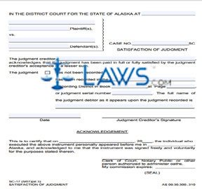 Satisfaction of Judgment (Include 2 copies of signed form when filing with court)
