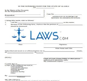 Affidavit in Support of Motion to Dismiss Petition