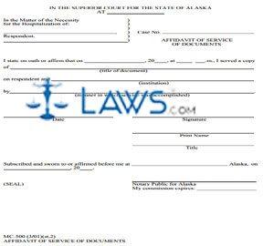 Affidavit of Service of Documents