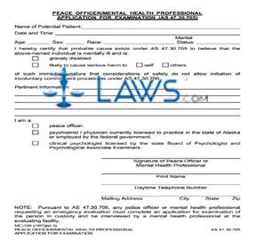 Peace Officer/Mental Health Professional Application for Exam