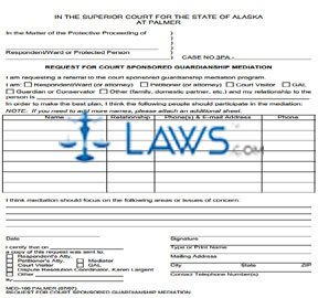 Request for Court Sponsored Guardianship Mediation Palmer