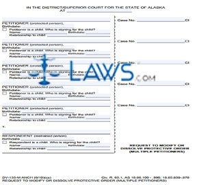 Request to Modify or Dissolve Protective Order Anchorage Multiple Petitioners
