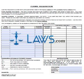 Forms Requisition