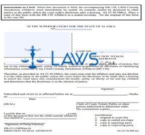 Direction to Seal Affidavit