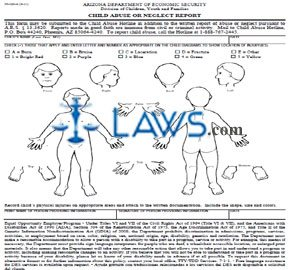 PS-020-A Child Abuse or Neglect Report - Arizona Forms - | Laws.com