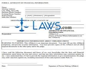 Affidavit of Financial Information