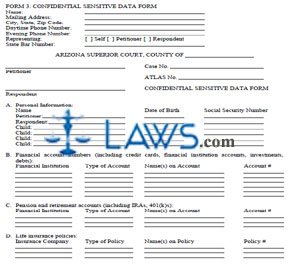 Confidential Sensitive Data Form