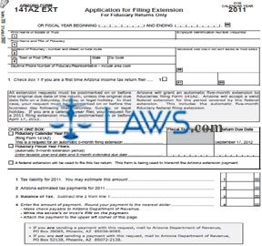 Form 141AZ EXT Application for Filing Extension For Fiduciary Returns Only