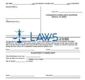 Summons/Complaint/Answer