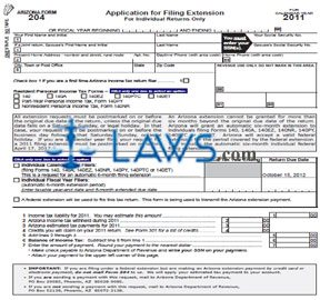 Form 204 Individual Income Application for Filing Extension