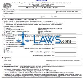 Form 25-0002 Tax Clearance Application