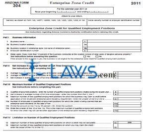 Form 304 Enterprise Zone Credit