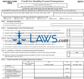 Form 332 Credit for Healthy Forest Enterprises