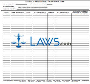 Form 82130AAA Agency Authorization Continuation