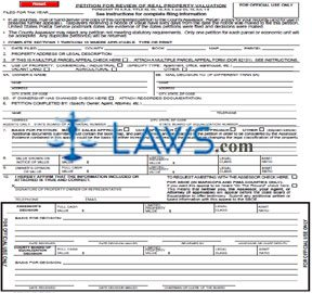 Form 82130 Petition for Review of Real Property Valuation