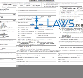 Form Affidavit of Property Value