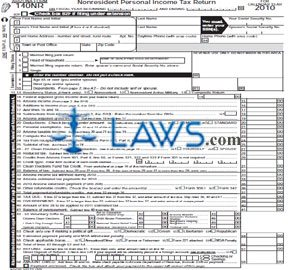 Form AZ-140NR Nonresident Personal Income Tax Package