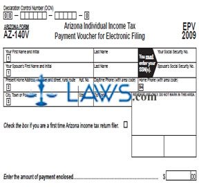 Form AZ-140V Individual Income Tax Payment Voucher