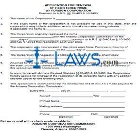 Form CF0037 Application for Renewal of Registered Name
